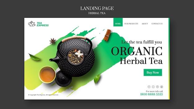 Strona docelowa herbaty ziołowej