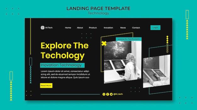 Strona docelowa innowacji cyfrowych