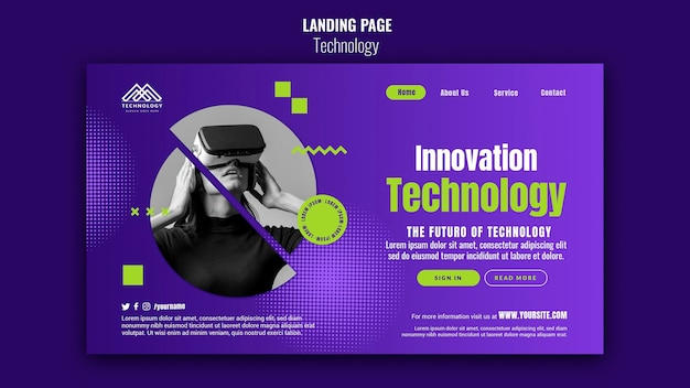 Strona docelowa innowacji technologicznych