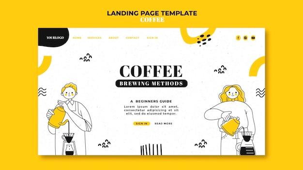 Strona docelowa kawy