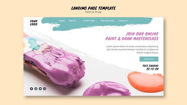 Strona docelowa klasy malowania