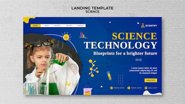 Strona docelowa klasy naukowej