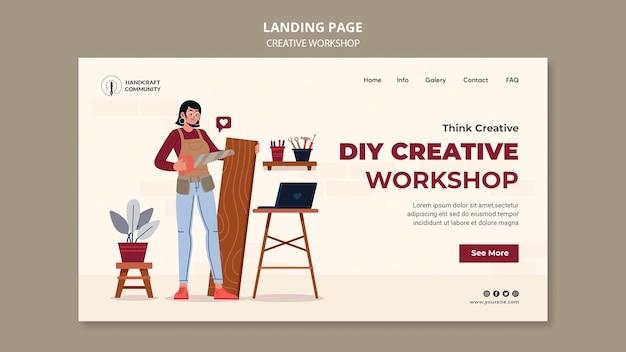 Strona docelowa kreatywnych warsztatów