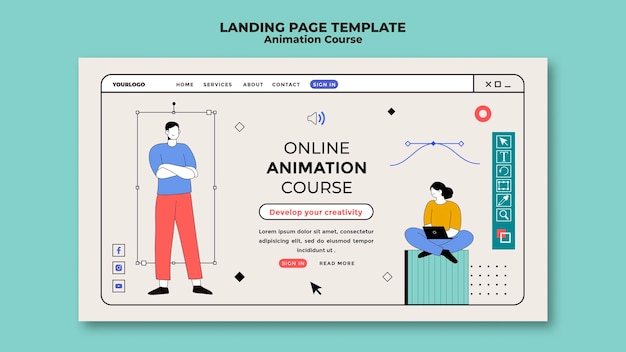 Strona docelowa kursu animacji