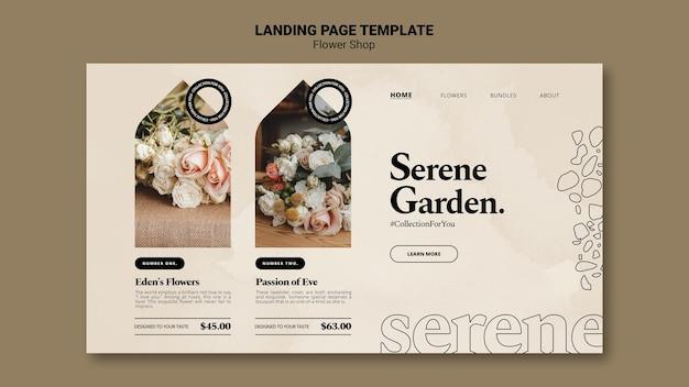 Strona docelowa kwiaciarni