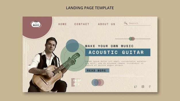 Strona docelowa lekcji gry na gitarze akustycznej