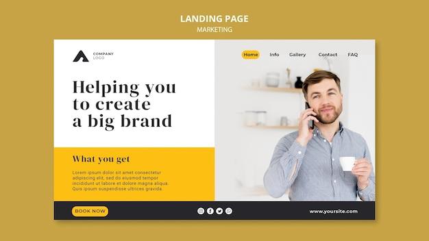 Strona docelowa marketingu biznesowego