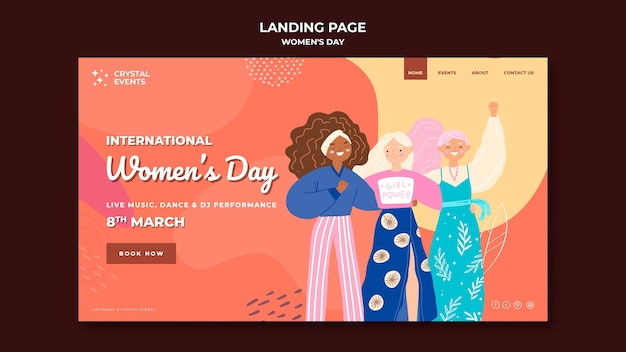 Strona docelowa międzynarodowego dnia kobiet