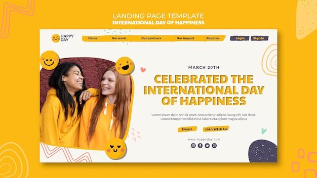 Strona docelowa międzynarodowego dnia szczęścia