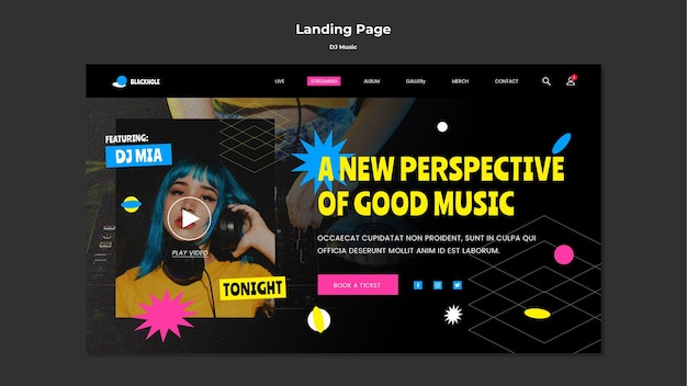 Strona docelowa muzyki dj