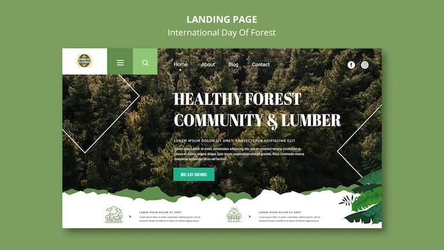 Strona docelowa na dzień lasu z naturą
