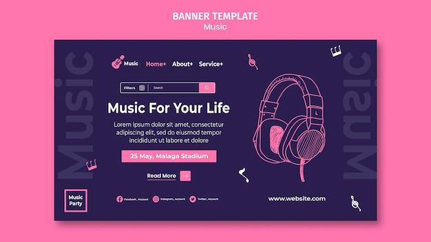 Strona docelowa na imprezę muzyczną
