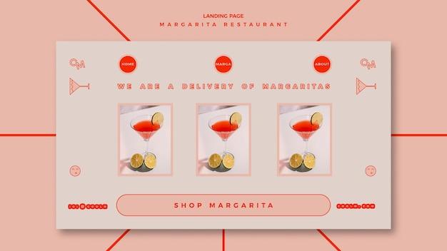 Strona docelowa napoju koktajlowego margarita