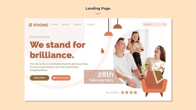 Strona docelowa nowego domu rodzinnego