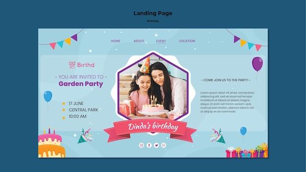 Strona docelowa obchodów urodzin