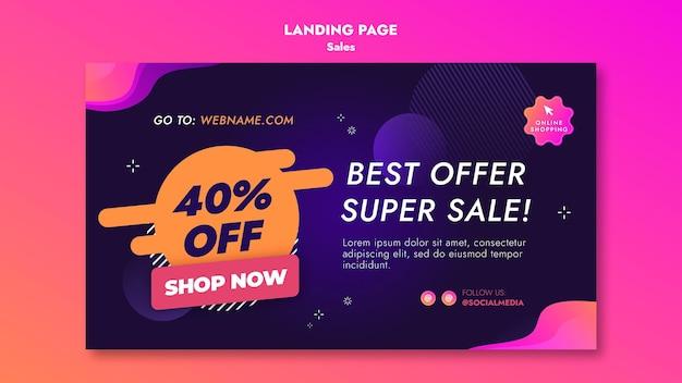 Strona docelowa ofert sprzedaży