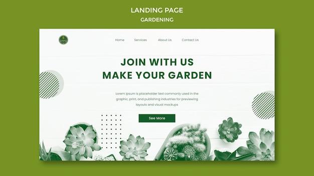 Strona docelowa ogrodnictwa