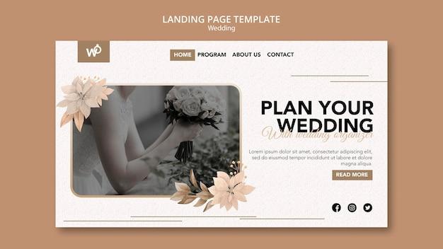 Strona docelowa organizatora ślubu