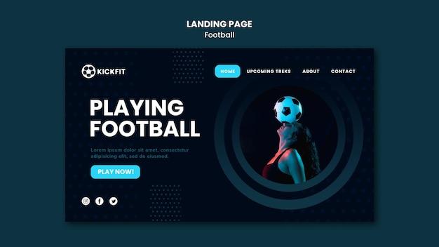 Strona docelowa piłki nożnej