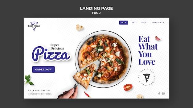 Strona docelowa pizzy
