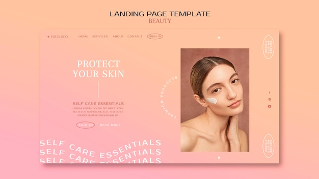 Strona docelowa produktów do pielęgnacji skóry