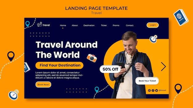 Strona docelowa przygody w podróży