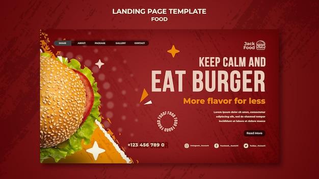 Strona docelowa restauracji fast food food
