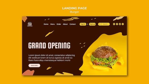 Strona docelowa restauracji z burgerami