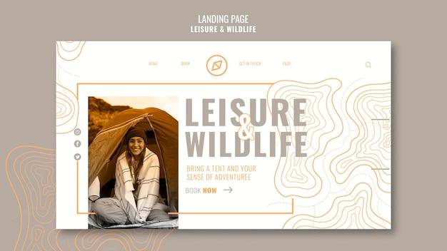 Strona docelowa rozrywki i dzikiej przyrody