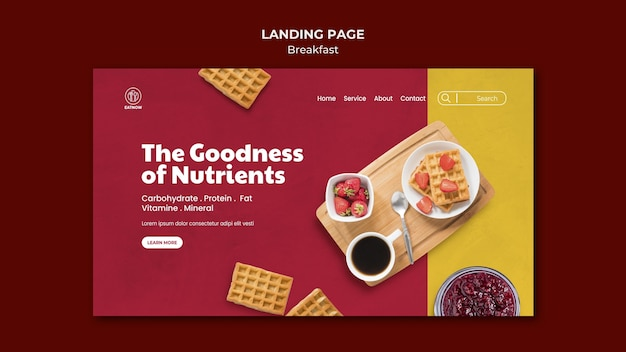 Strona docelowa śniadania