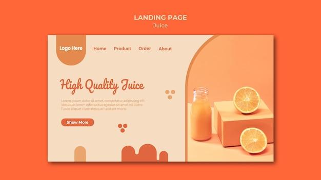 Strona docelowa soku pomarańczowego