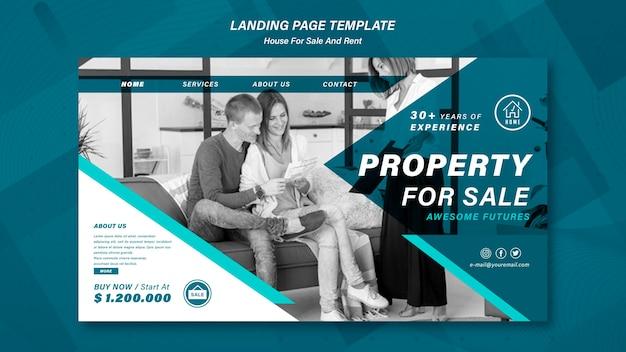 Strona docelowa sprzedaży domów