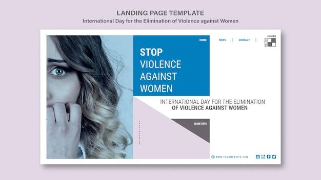"""Strona docelowa """"stop przemocy wobec kobiet"""""""