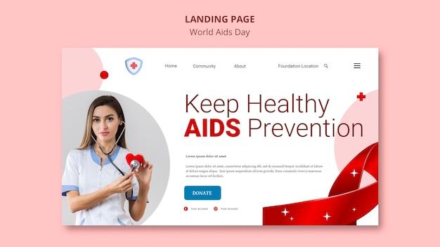 Strona docelowa światowego dnia aids