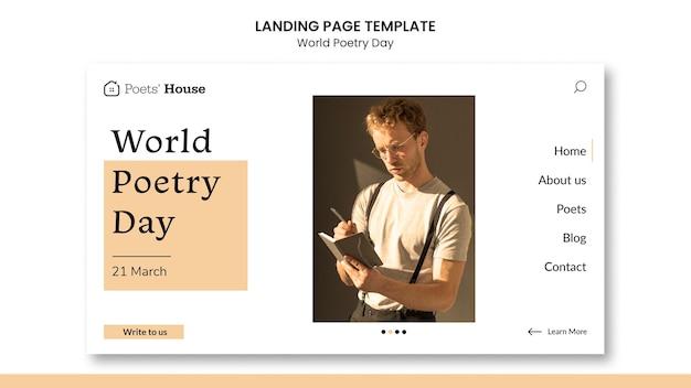 Strona docelowa światowego dnia poezji