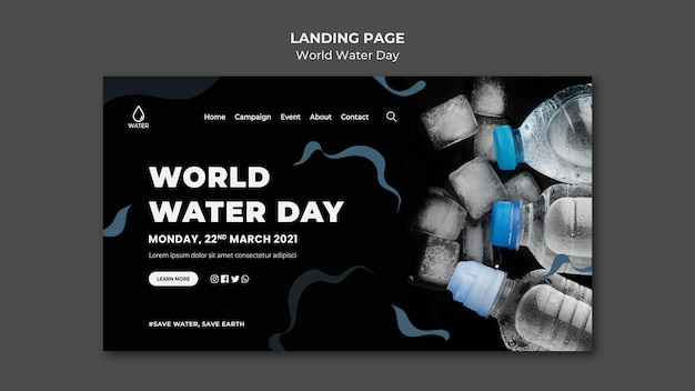 Strona docelowa światowego dnia wody