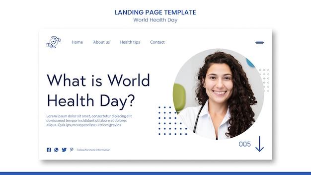 Strona Docelowa światowego Dnia Zdrowia Darmowe Psd