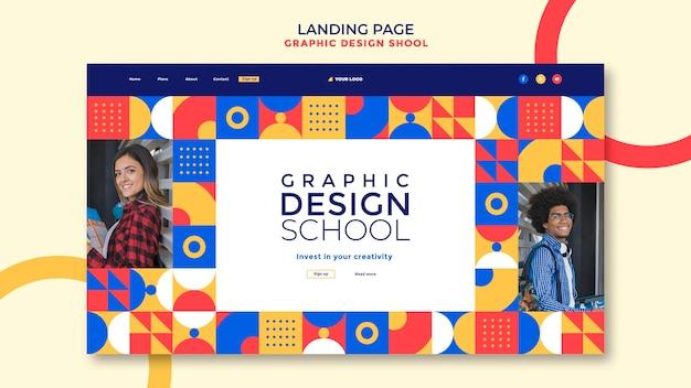 Strona docelowa szkoły projektowania graficznego
