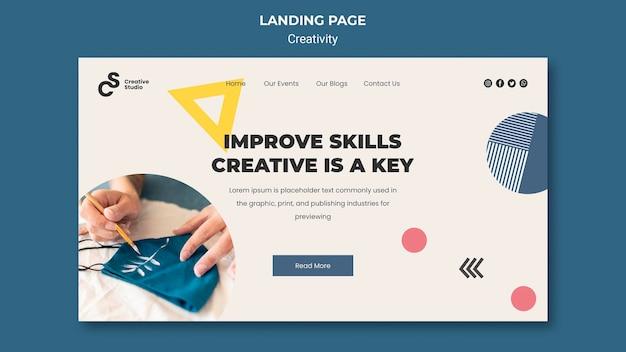 Strona docelowa umiejętności kreatywnych