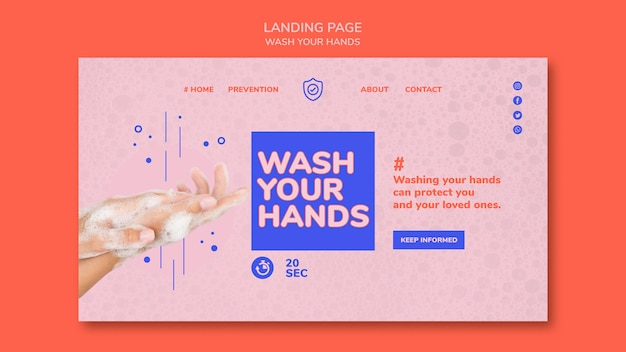 Strona docelowa umyj ręce