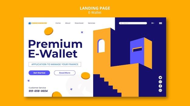 Strona docelowa usług e-portfela
