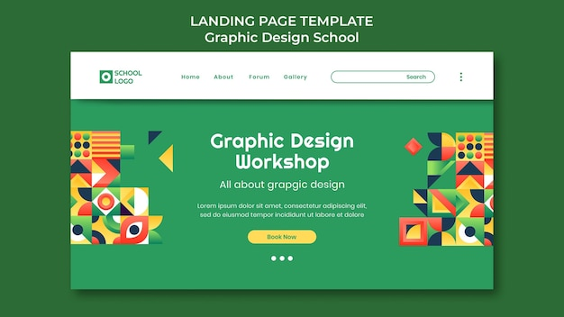 Strona docelowa warsztatu projektowania graficznego
