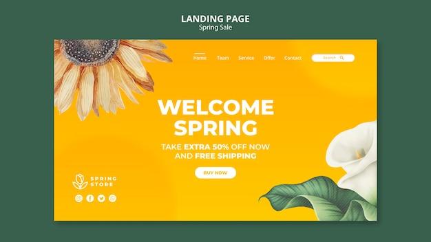 Strona docelowa wiosennej wyprzedaży