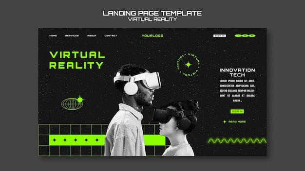 Strona docelowa wirtualnej rzeczywistości