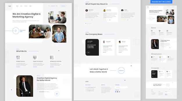 Strona docelowa witryny agencji kreatywnej