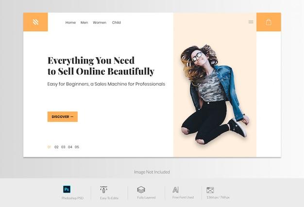 Strona docelowa witryny e-commerce