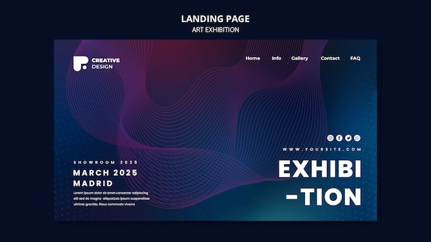 Strona docelowa wystawy sztuki