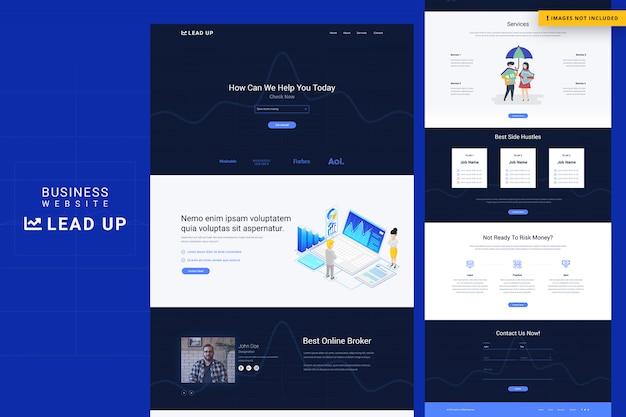 Strona internetowa firmy lead up
