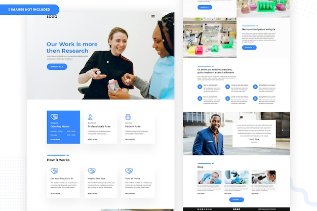 Strona internetowa laboratorium medycznego i opieki zdrowotnej