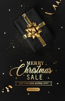 Strona tytułowa baneru sprzedaży świątecznej strona internetowa.